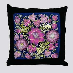 Elegant Lavender Floral design Throw Pillow
