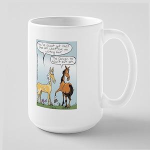 Horse Health - Shoe Toss Large Mug