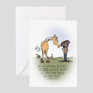 Horse Health - Hidden Meds Greeting Card