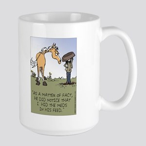 Horse Health - Hidden Meds Large Mug