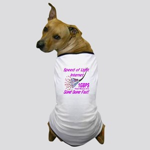 Speed of Light Internet Dog T-Shirt