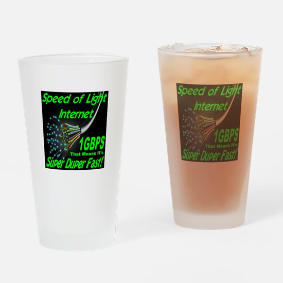 Speed of Light Internet Drinking Glass