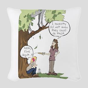Needle Phobia Woven Throw Pillow