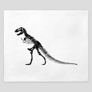 T-Rex Skeleton King Duvet