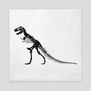 T-Rex Skeleton Queen Duvet