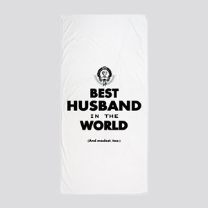 The Best in the World Best Husband Beach Towel