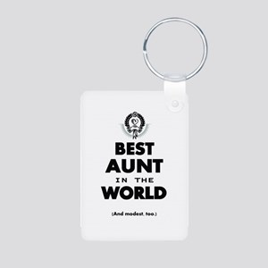 The Best in the World Best Aunt Keychains
