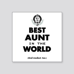 The Best in the World Best Aunt Sticker
