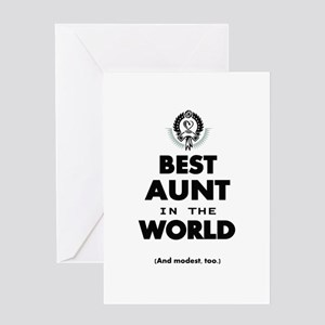 The Best in the World Best Aunt Greeting Cards