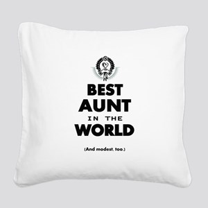 The Best in the World Best Aunt Square Canvas Pill