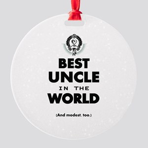 The Best in the World Best Uncle Ornament