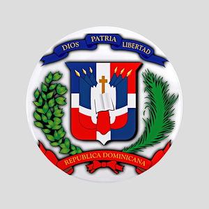 """Republica Dominicana, Dominican Republ 3.5"""" Button"""