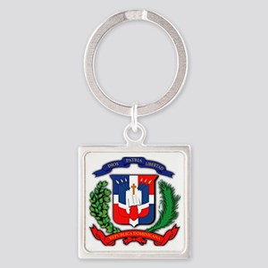 Republica Dominicana, Dominican Re Square Keychain
