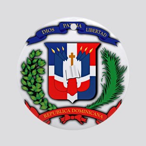 Republica Dominicana, Dominican Rep Round Ornament
