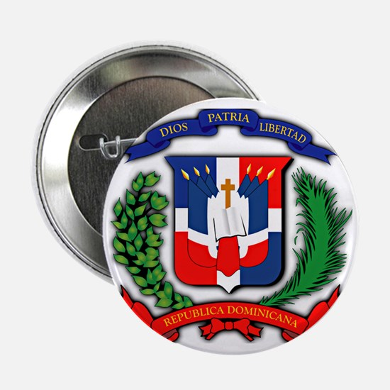 """Republica Dominicana, Dominican Repub 2.25"""" Button"""