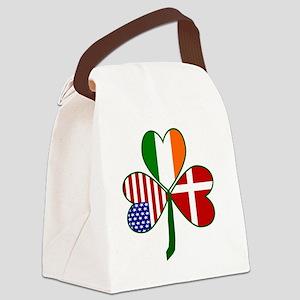 Danish Shamrock Canvas Lunch Bag