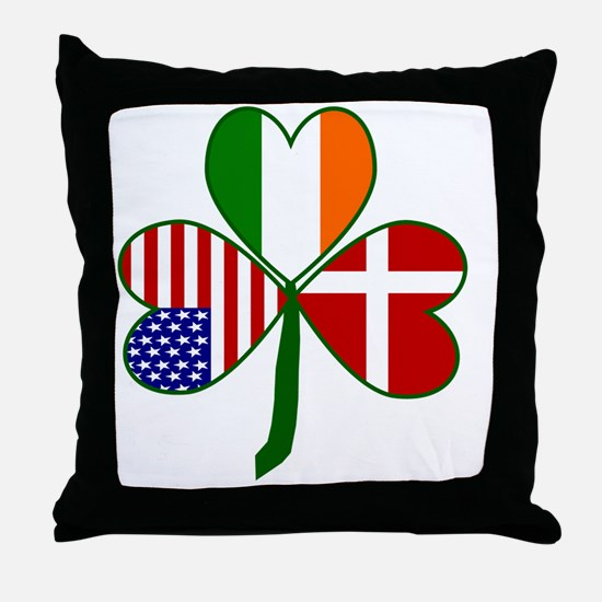 Danish Shamrock Throw Pillow