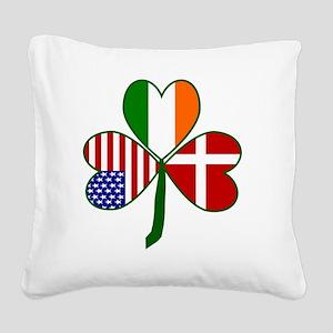 Danish Shamrock Square Canvas Pillow