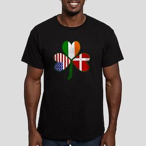 Danish Shamrock Men's Fitted T-Shirt (dark)