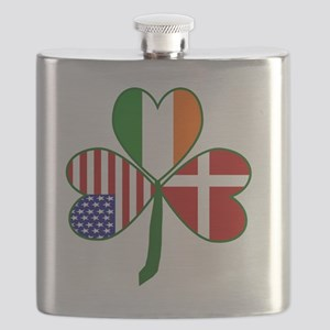 Danish Shamrock Flask