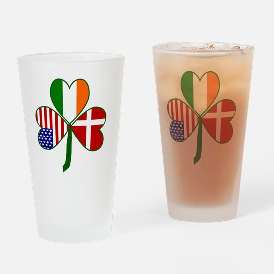 Danish Shamrock Drinking Glass