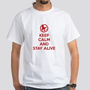 Keep Calm and Stay Alive White T-Shirt