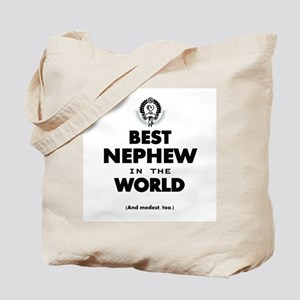 The Best in the World Best Nephew Tote Bag