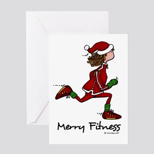 Merry Fitness Greeting Cards