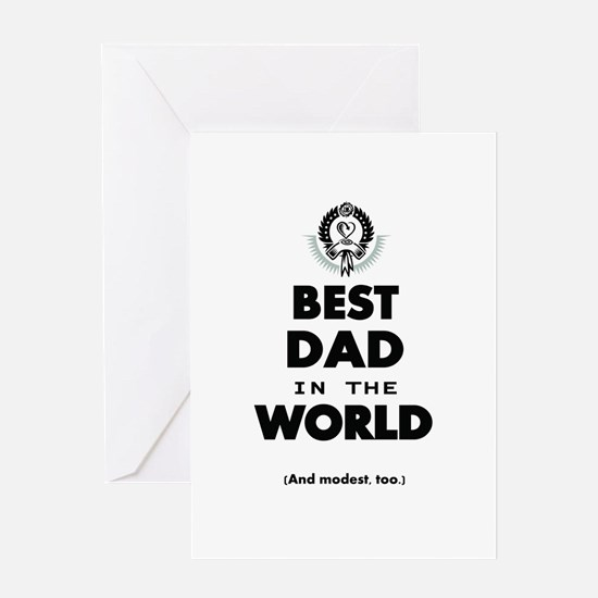 The Best in the World Best Dad Greeting Cards