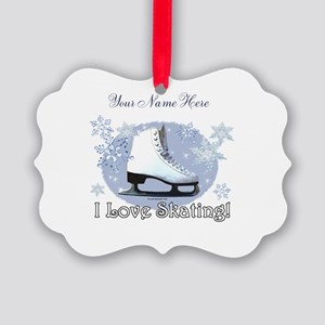 I Love Skating! Personalize Ornament