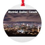 Montréal Round Ornament