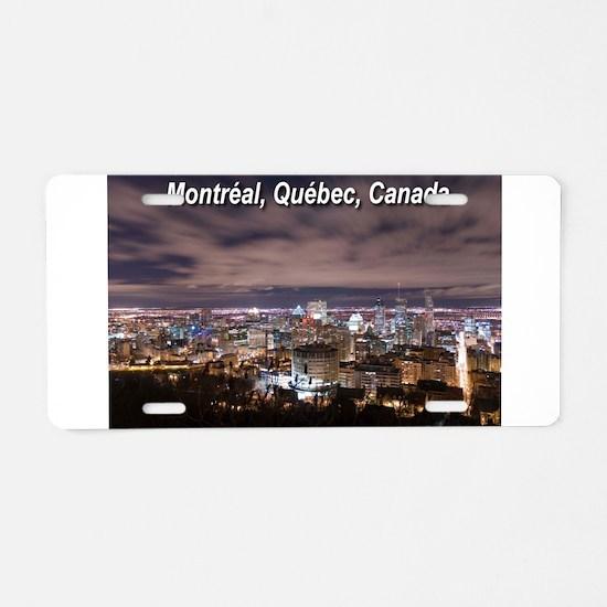 Montréal Aluminum License Plate