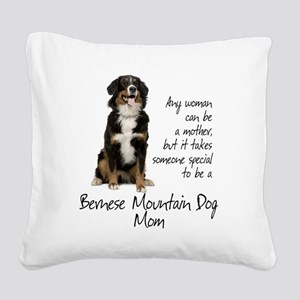 Berner Mom Square Canvas Pillow