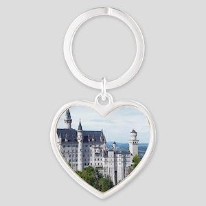 Neuschwanstein001 Heart Keychain