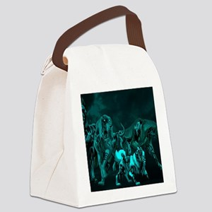 Zombie Hounds  Canvas Lunch Bag