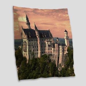 Neuschwanstein003 Burlap Throw Pillow