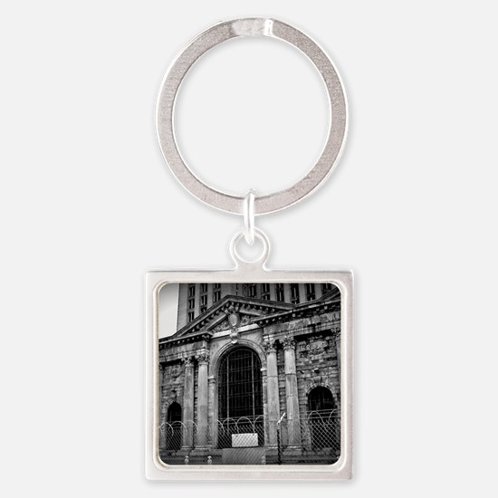 Michigan Central Station Square Keychain
