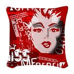 Kiss Me Rebel Woven Throw Pillow