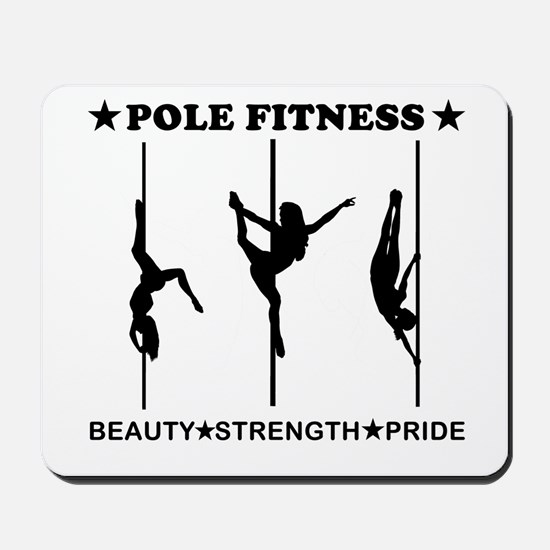 Pole Fitness Beauty Strength Pride Black Mousepad