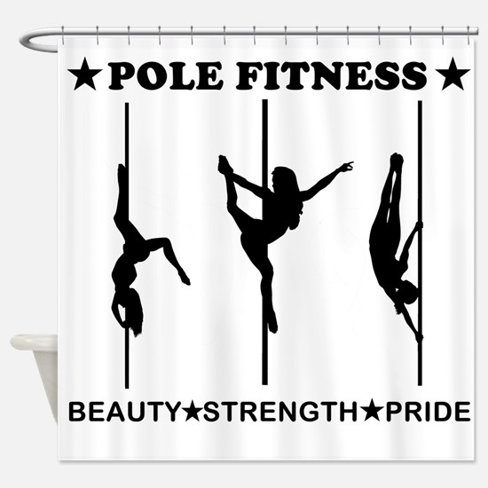 Pole Fitness Beauty Strength Pride Black Shower Cu