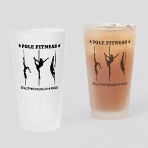 Pole Fitness Beauty Strength Pride Black Drinking