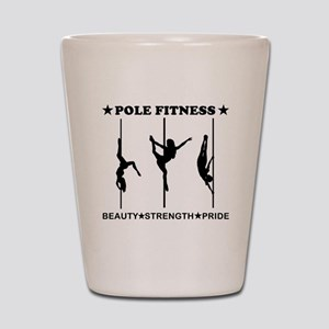 Pole Fitness Beauty Strength Pride Black Shot Glas