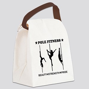 Pole Fitness Beauty Strength Pride Black Canvas Lu