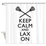 Keep Calm And Lax On Shower Curtain