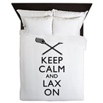 Keep Calm And Lax On Queen Duvet