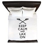 Keep Calm And Lax On King Duvet