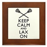 Keep Calm And Lax On Framed Tile