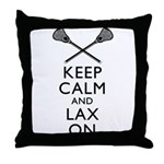 Keep Calm And Lax On Throw Pillow