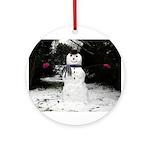 Happy Snowman Ornament (Round)