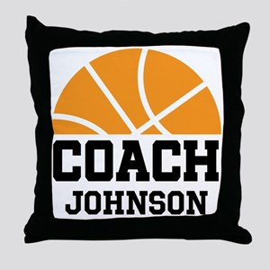 Personalized Basketball Coach Gift Throw Pillow